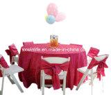 100%Polyester Table mariage populaire chiffon chiffon Pintuck Table de conception pour le parti&Banquet (WLTC003)