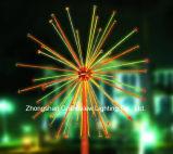 屋外の白いカラークリスマスLEDの花火ライト