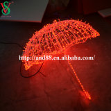 クリスマスAcross Street LED Decoration Motif Lights 3D Umbrella