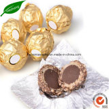 Vorgeschnittenes Goldaluminiumfolie-Schokoladen-Verpackungs-Folien-Papier