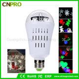E27 4W Bol van de Lamp van de Projector van de LEIDENE de Bewegende Laser van de Sneeuwvlok voor Kerstmis