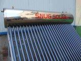 bobine de cuivre Geyser avec chauffage solaire dans le réservoir