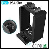 Párese refrigerador del soporte del ventilador de almacenamiento en disco para Playstation 4 PS4 Delgado PS4 PRO consola de juegos y PS Move doble cargador