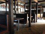 工場はカスタマイズするブース(FOH-CBC696)が付いているBBQのダイニングテーブルを