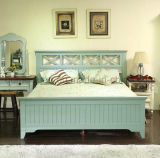 Camas matrimoniales modernas de la cama de madera sólida (M-X2258)