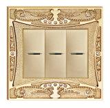 Gold überzogene Qualität schmiedete Messingenergien-Wand-Schalter