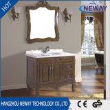 Новая античная тщета ванной комнаты твердой древесины шкафа ванны пола