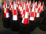 cone de borracha recicl 28inch do tráfego com colar reflexivo