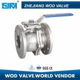 vávula de bola del borde de 150lb CF8 Wod 2PC con ISO5211