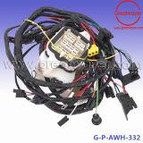 Детали двигателя в моторном отсеке жгут проводов трос привода в сборе