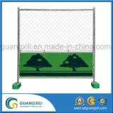 Temporärer Zaun 1.8 x 1.8 mit grüner Platte