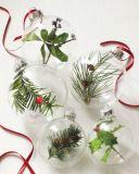 Les billes de verre clair Décoration de mariage de brousse des billes de verre de Noël d'Ornements boules Festal parti