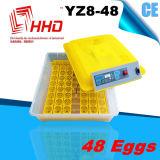 Incubatrice automatica dell'uovo del pollo del CE piccola mini (YZ8-48)