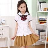 OEM 고품질 소녀 셔츠 교복은 치마를 주문을 받아서 만들었다