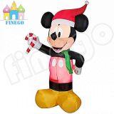 Natale gonfiabile Mickey Mouse con fuoco per la decorazione esterna