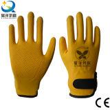 перчатки пены 15gague покрынные нитрилом, польностью Coated перчатки нитрила, выбивая перчатки, перчатки работы, перчатки безопасности