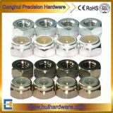 Alluminio Anodizzato Dadi Di Chiusura Esagonale, Dadi Alluminio Colorati in Nylock