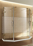 샤워 예술 Tempered 건물 패턴 페인트 장식 유리제 문 Windows 예술