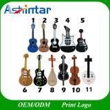 Azionamento dell'istantaneo del USB del PVC della chitarra del bastone di memoria del USB dello strumento musicale
