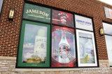 Großes Belüftung-Vinylselbstklebendes Förderung-Fenster/Glasaufkleber