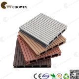 Decking extérieur composé réutilisé par 100%, plancher extérieur, WPC (TW-02B)