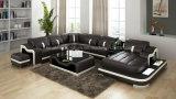 Modèle de luxe de mémoire de sofa de Mdoern de cuir de la taille G8027