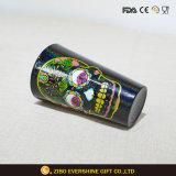 Kopf-Schwarz-Liter-Glas des Schädel-480ml mit Farben-Laser-Farbanstrich