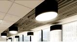 30W*150h新しいデザインアルミニウムバッフルの天井