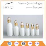 botella de perfume de cristal blanca 100ml, botella de petróleo esencial con el cuentagotas