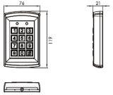 Pickproofデザイン金属のアクセス制御