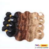 Tres tonos el Color de cabello virgen peruana cabello humano.