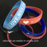Wristband poco costoso del silicone di marchio su ordinazione