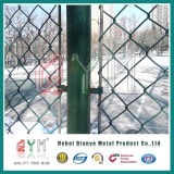 Cercado de cadenas recubierto de PVC/cercado de la cadena de acero galvanizado Factory