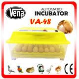 Cadeau de Noël ! CE approuvé incubateur d'oeufs de poulet automatique va-48