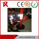 O tráfego de segurança rodoviária reflexiva de plástico vermelho T-Topo da mola de PVC Delineator Post