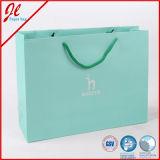 Sacchi di carta promozionali verdi per acquisto, regali, alimento promozionale