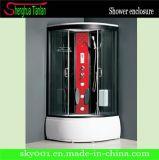 CE approuvé Salle de bains de vapeur de douche en verre acrylique boîtier (TL-8807)