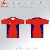 Поло изготовленный на заказ людей рубашек сублимации износа спорта