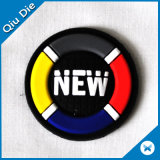 New Arrival Repairing Round Soft Rubber Patch Badge com Groove