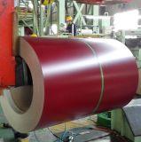 Bobina de aço galvanizada Prepainted material de construção PPGI 0.42mm de Dx51d