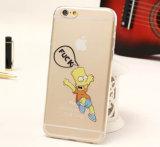 중국 도매 주문 투명한 TPU는 iPhone 6 세포 또는 이동 전화 덮개 케이스를 위한 상자를 방수 처리한다