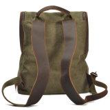 Leather Shoulder Strap Satchel Bag (RS2165)를 가진 젊은 Girl Canvas Backpack