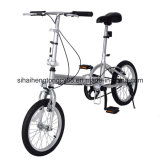 """Dobrando 16 da """" esportes da escola da prata da dobra da bicicleta da velocidade bicicleta únicos"""