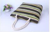 Três listras coloridas bolsas de comércio de lona de cânhamo