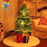 Decorazione gonfiabile gigante chiara dell'albero della Santa di natale di evento LED