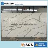 Bancada artificial da pedra de quartzo da cor do mármore do estilo de Calacatta