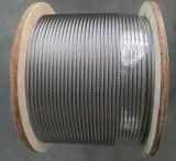 Corde galvanisée par brin multi de fil d'acier des avions 6X19 de constructeur