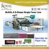 S-Forma Individual Facer Corrugado cartón Línea de producción, la toma de la taza de papel