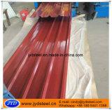 Hoja acanalada del material para techos del color trapezoidal