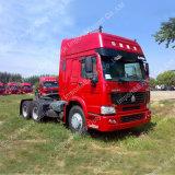 Toit plat HOWO 6X4 de la cabine du tracteur pour récipient de remorque de camion